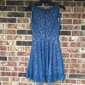City Studio Dresses - SALE💛 Periwinkle Nigh Neck Lace A-Line Dress